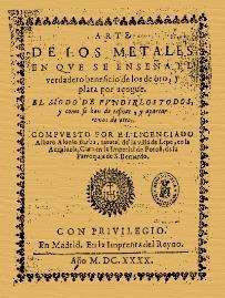 """Fig.1 Página De Portada Del Libro """"el Arte De Los Metales"""" Se Ha Utilizado Una Edición Facsímile Editada Por El Csic"""