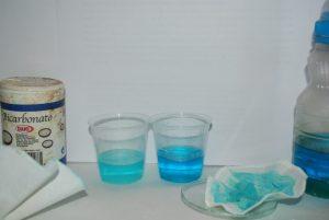 Fig3 Comparación De Aguas Madres (izquierda) Disolución Y Filtro Con Pigmento Seco